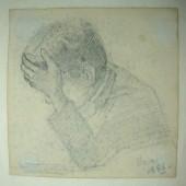 Tekening van broer Theo Molkenboer uit 1886